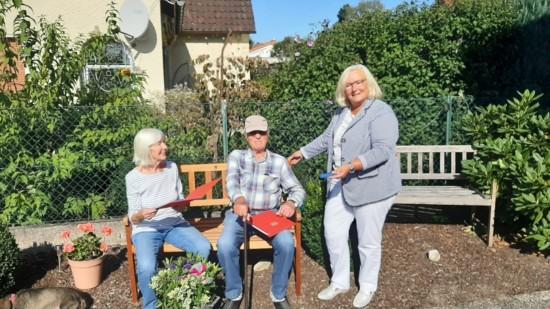 Johanna und Siegfried Franke mit Karin Echtermann